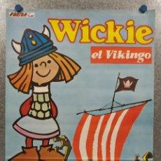 Cine: VICKIE EL VIKINGO. AÑO 1976. POSTER ORIGINAL. Lote 288998563