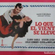 """Cine: CARTELES """"LO QUE EL VIENTO SE LLEVO"""". Lote 289023593"""