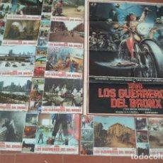 Cine: CARTEL DE CINE 70X 100 APROX MOVIE POSTER+12 FOTOCROMOS VER FOTOS 1990 LOS GUERREROS DEL BRONX. Lote 289197663