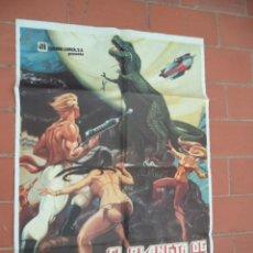 Cine: CARTEL DE CINE 70X 100 APROX MOVIE POSTER VER FOTO EL PLANETA DE LOS DINOSAUROS JAMES K. SHEA. Lote 289198283