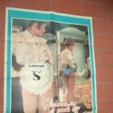 Cine: CARTEL DE CINE 70X 100 APROX MOVIE POSTER VER FOTO HISTORIA DE UNAS BRAGAS AZULES ANDRE GENOVES. Lote 289198963
