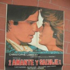 Cine: CARTEL DE CINE 70X 100 APROX MOVIE POSTER VER FOTO AMANTE Y SALVAJE ELIE CHOURAQUI. Lote 289199138