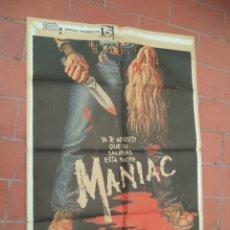 Cine: MOVIE POSTER CARTEL DE CINE ORIGINAL DE EPOCA 70X100 APROX VER FOTO MANIAC WILLIAM LUSTIG. Lote 289200188