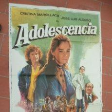 Cine: MOVIE POSTER CARTEL DE CINE ORIGINAL DE EPOCA 70X100 APROX VER FOTO ADOLESCENCIA GERMAN LORENTE. Lote 289200428