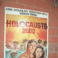 Cine: CARTEL DE CINE 70X 100 APROX MOVIE POSTER VER FOTO HOLOCAUSTO 2000 KIRK DOUGLAS AGOSTINA BELLI. Lote 289202068
