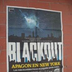 Cine: CARTEL DE CINE 70X 100 APROX MOVIE POSTER VER FOTO BLACKOUT APAGON EN NEW YORK EDDY MATALON. Lote 289202918