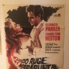 Cinéma: CARTEL DE CINE. CUANDO RUGE LA MARABUNDA ( CHARLTON HESTON). Lote 289227788
