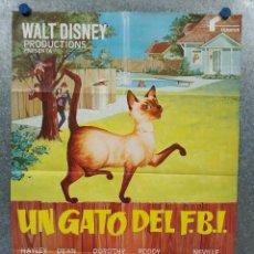 Cine: UN GATO DEL FBI. HAYLEY MILLS, DEAN JONES, DOROTHY PROVINE AÑO 1980. POSTER ORIGINAL. Lote 289298913