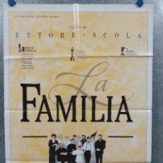 Cine: LA FAMILIA. VITTORIO GASSMAN, STEFANIA SANDRELLI, FANNY ARDANT. POSTER ORIGINAL. Lote 289299643