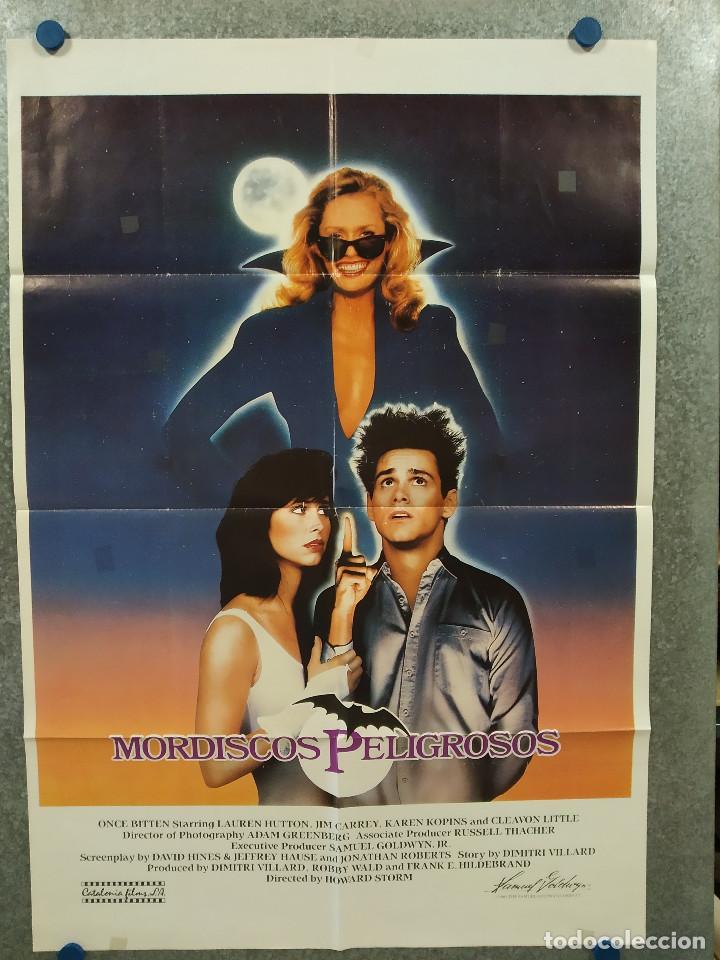 MORDISCOS PELIGROSOS. LAUREN HUTTON, JIM CARREY, KAREN KOPINS. AÑO 1985. POSTER ORIGINAL (Cine - Posters y Carteles - Comedia)