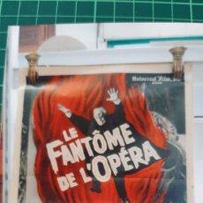 Cine: LE FANTASMA DE L'OPERA ANTIGUO CARTEL PÓSTER AFICHE 129 V 571 50 ANIVERSARIO 192/1962 79X60 BUENO E. Lote 289301643