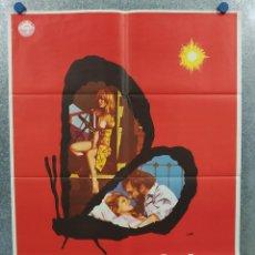 Cine: LA MARCA DE LA MARIPOSA. STACY KEACH, PIA ZADORA, ORSON WELLES AÑO 1982. POSTER ORIGINAL. Lote 289304083