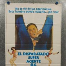 Cine: EL DISPARATADO SUPER AGENTE 86. DON ADAMS, SYLVIA KRISTEL, RHONDA FLEMING. AÑO 1980. POSTER ORIGINAL. Lote 289304748