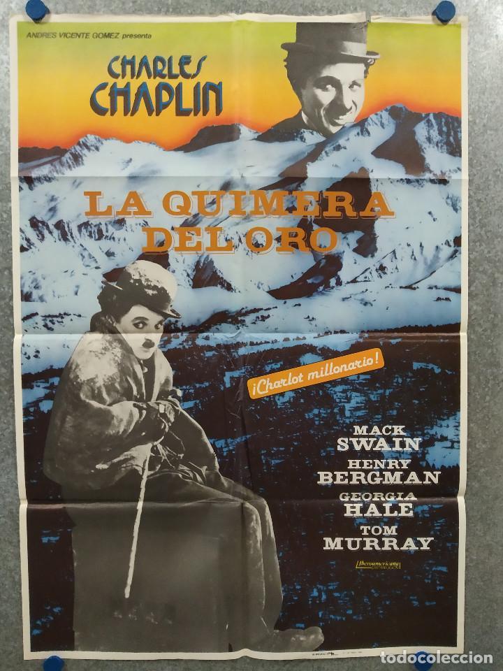 LA QUIMERA DEL ORO . CHARLES CHAPLIN. AÑO 1983. POSTER ORIGINAL (Cine - Posters y Carteles - Comedia)