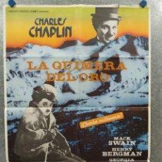 Cine: LA QUIMERA DEL ORO . CHARLES CHAPLIN. AÑO 1983. POSTER ORIGINAL. Lote 289306353