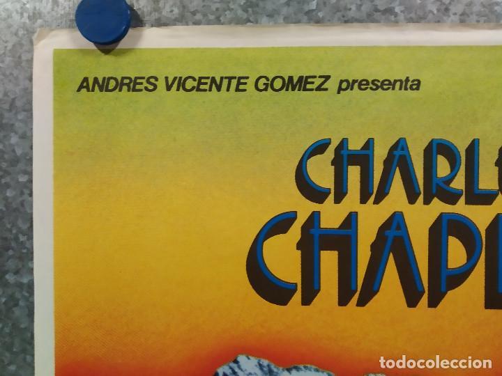 Cine: La quimera del oro . Charles Chaplin. AÑO 1983. POSTER ORIGINAL - Foto 2 - 289306353