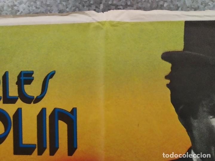 Cine: La quimera del oro . Charles Chaplin. AÑO 1983. POSTER ORIGINAL - Foto 3 - 289306353