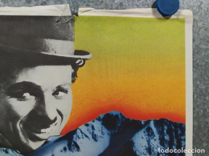 Cine: La quimera del oro . Charles Chaplin. AÑO 1983. POSTER ORIGINAL - Foto 4 - 289306353