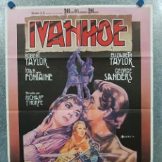 Cine: IVANHOE. ROBERT TAYLOR, ELIZABETH TAYLOR. AÑO 1981. IVAN ZULUETA. POSTER ORIGINAL. Lote 289311088