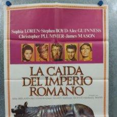 Cine: LA CAÍDA DEL IMPERIO ROMANO. SOFIA LOREN, STEPHEN BOYD, CHRISTOPHER PLUMM AÑO 1980. POSTER ORIGINAL. Lote 289314973