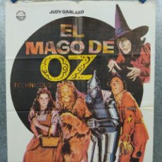 Cine: EL MAGO DE OZ. JUDY GARLAND, FRANK MORGAN, RAY BOLGER. AÑO 1982, POSTER ORIGINAL. Lote 289316498