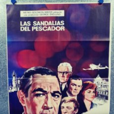 Cine: LAS SANDALIAS DEL PESCADOR. ANTHONY QUINN, LAURENCE OLIVIER, OSKAR WERNER AÑO 1968. POSTER ORIGINAL. Lote 289322428