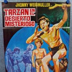 Cine: TARZÁN EN EL DESIERTO MISTERIOSO. JOHNNY WEISSMULLER, NANCY KELLY, JOHNNY POSTER ORIGINAL. Lote 289501893