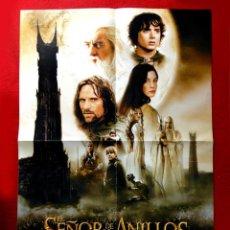 Cine: CARTEL - EL SEÑOR DE LOS ANILLOS - CARTEL DOBLE DE CINE (PANTALLA 3) - 59 X 42 - 2002 - NUEVO. Lote 289553648