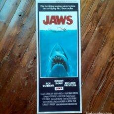 """Cine: JAWS (TIBURÓN) CARTEL ORIGINAL """"INSERT"""" USA 1975 (SIN DOBLAR) COMO NUEVO Y MUY RARO!!!. Lote 289558183"""