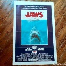 Cine: JAWS (TIBURÓN) CARTEL ORIGINAL ESTRENO USA 1975 DOBLADO MUY RARO!!! VER INFORMACIÓN. Lote 289559318