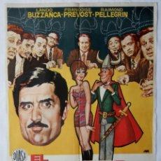 Cine: EL ULTIMO EN SABERLO, CON LANDO BUZZANCA. POSTER. 70 X 100 CMS.1972. DISEÑO: JANO.. Lote 289779343