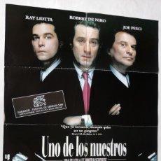Cine: UNO DE LOS NUESTROS, CON ROBERT DE NIRO. PÓSTER 68,5 X 98 CMS. 1990.. Lote 289779938