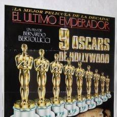 Cine: EL ÚLTIMO EMPERADOR, CON PETER O'TOOLE. PÓSTER 70 X 100 CMS. 1988.. Lote 289782838