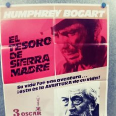 Cine: EL TESORO DE SIERRA MADRE. HUMPHREY BOGART, WALTER HUSTON, TIM HOLT. POSTER ORIGINAL AÑOS 80. Lote 289831498