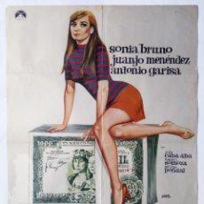 Cine: VERDE DONCELLA, POR RAFAEL GIL. POSTER 69 X 99 CMS. 1968. DISEÑO: JANO.. Lote 289833178