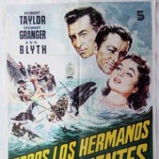 Cine: TODOS LOS HERMANOS ERAN VALIENTES, CON ROBERT TAYLOR. PÓSTER 70 X 97,5 CMS. 1982.. Lote 289837548
