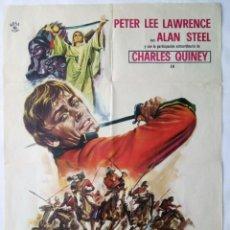 Cine: EL TIGRE DEL KYBER, CON PETER LEE LAWRENCE. PÓSTER 69 X 100 CMS.. 1970.. Lote 289841363
