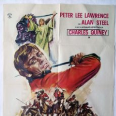 Cine: EL TIGRE DEL KYBER, CON PETER LEE LAWRENCE. PÓSTER 69,5 X 100,5 CMS.. 1970.. Lote 289845553