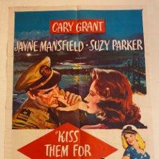 Cine: KISS THEM FOR ME. CARTEL ORIGINAL USA ONE SHEET. 104X69. STANLEY DONEN, JAYNE MANSFIELD. Lote 290033328