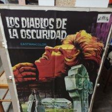 Cine: LOS DIABLOS DE LA OSCURIDAD POSTER ORIGINAL 70X100 M43 SOLIGO. Lote 290163928