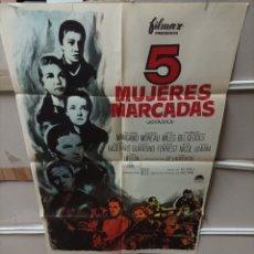 Cine: 5 MUJERES MARCADAS SILVANA MANGANO POSTER ORIGINAL 70X100 M104. Lote 290473363