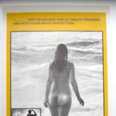 Cine: CARTEL ORIGINAL / SURF / AUSTRALIA / THE FREEDOM RIDERS / LED ZEPPELIN / 1972.. Lote 290671513