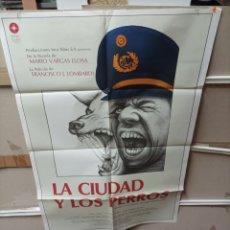 Cine: LA CIUDAD Y LOS PERROS VARGAS LLOSA POSTER ORIGINAL 70X100 M165. Lote 290713278