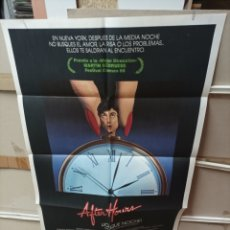 Cinema: AFTER HOURS JO QUE NOCHE SCORSESE POSTER ORIGINAL 70X100 M177. Lote 290740608