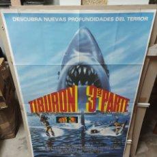 Cine: TIBURON 3 PARTE EL GRAN TIBURÓN DENNIS QUAID POSTER ORIGINAL 70X100 M178. Lote 290750873