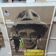 Cine: EL ASESINO DE DUSSELDORF ROBER HOSSEIN JANO POSTER ORIGINAL 70X100 M209. Lote 290939053