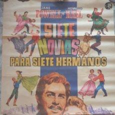 Cine: CARTEL DE LA PELÍCULA SIETE NOVIAS PARA SIETE HERMANOS. Lote 290973033