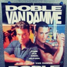 Cinema: DOBLE IMPACTO. JEAN-CLAUDE VAN DAMME. POSTER ORIGINAL. Lote 290985963
