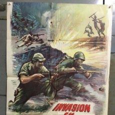 Cine: CDO M779 INVASION EN BIRMANIA SAMUEL FULLER POSTER ORIGINAL 70X100 ESTRENO. Lote 290990278