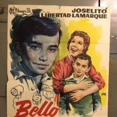 Cine: CDO M780 BELLO RECUERDO JOSELITO LIBERTAD LAMARQUE JANO POSTER ORIGINAL 70X100 ESTRENO. Lote 290992643